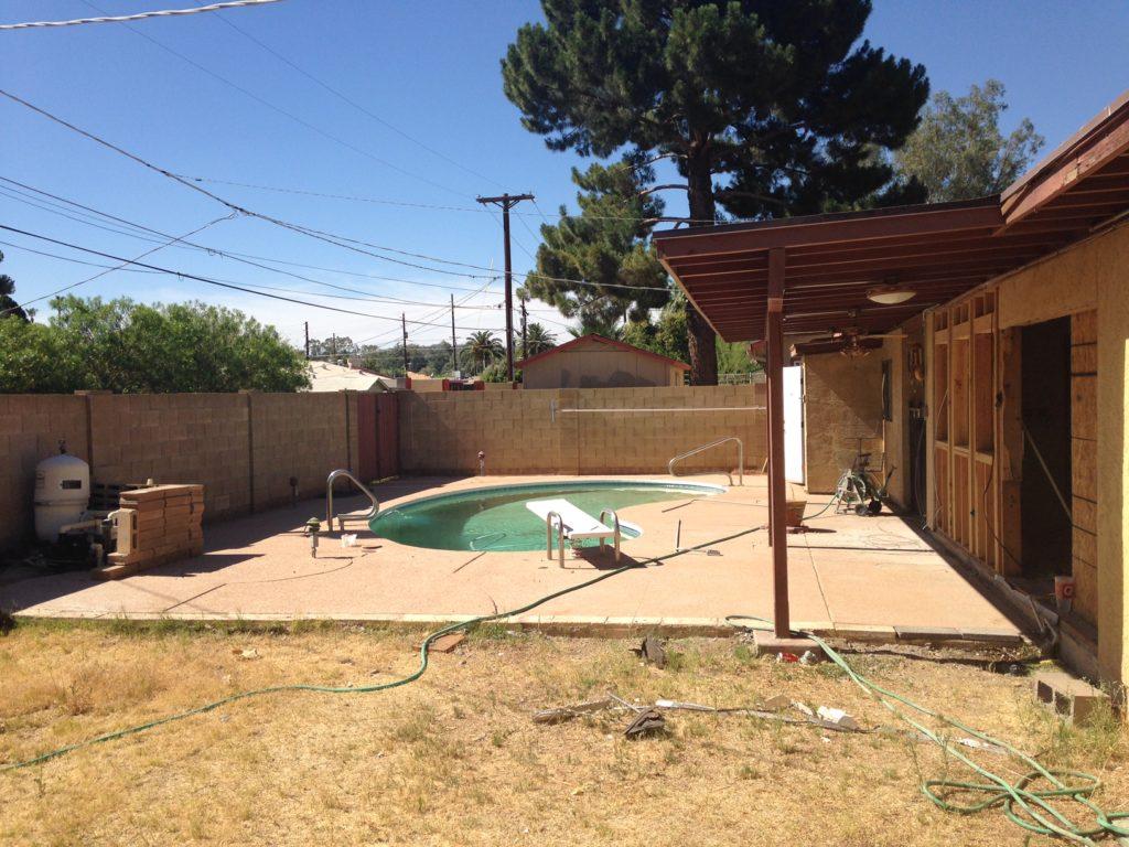 backyard during