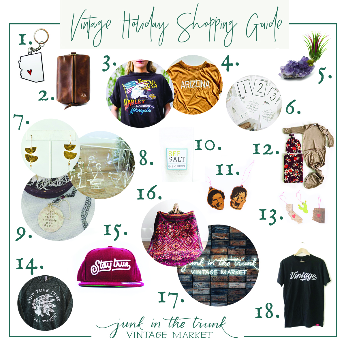Vintage Holiday Gift Guide 2018 - Junk In The Trunk Vintage Market