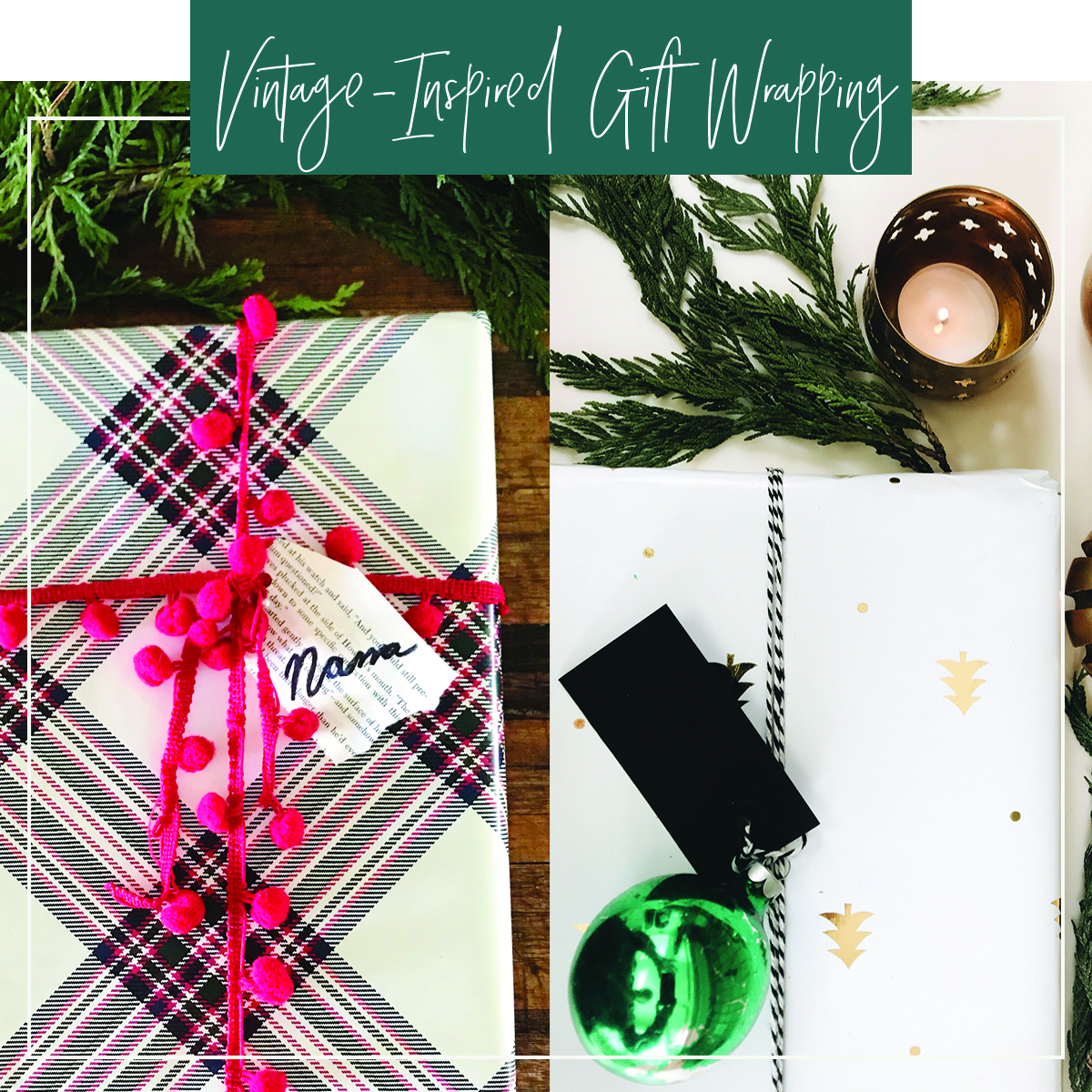 Vintage-Inspired Holiday Gift Wrapping - Junk In The Trunk Vintage Market